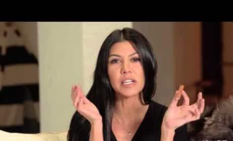 Kourtney Kardashian Explains Best Way to Eat a Kit Kat