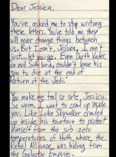 15 Most Absurd Breakup Letters Ever - Page 3 - The Hollywood Gossip