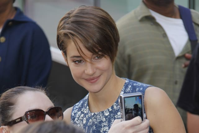 Shailene woodley poses
