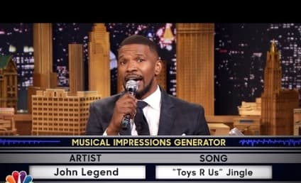 "Jamie Foxx Impersonates Jennifer Hudson, Sings ""On Top of Spaghetti"""