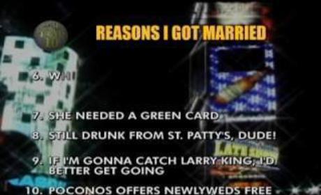 Top Ten Reasons David Letterman Got Married