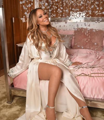 Mariah Carey in a Robe