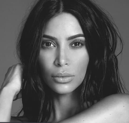 Kim Kardashian in Black and White 2020