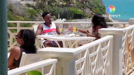 Steven and Martine on Love In Paradise: Caribbean