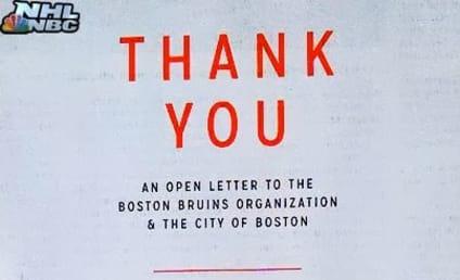 Blackhawks Thank Bruins, City of Boston in Classy Open Letter