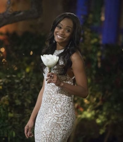 Rachel Lindsay with a Flower