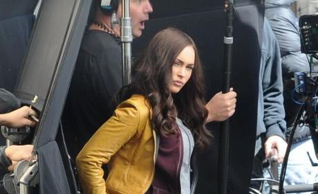 Megan Fox On Set Image