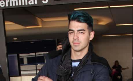 Joe Jonas Lands at LAX