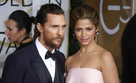 Matthew McConaughey and Camila Alves at the Golden Globes