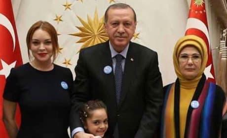 Lindsay Lohan With Erdogan