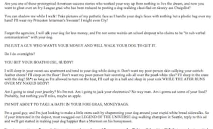 Dog Walker Craigslist Ad Goes Viral: It's Hilarious, But is it Legit?