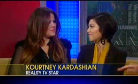 Khloe Kardashian Nipple Slip on Fox News