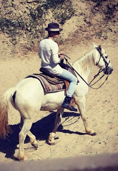 Justin Bieber on a Horse