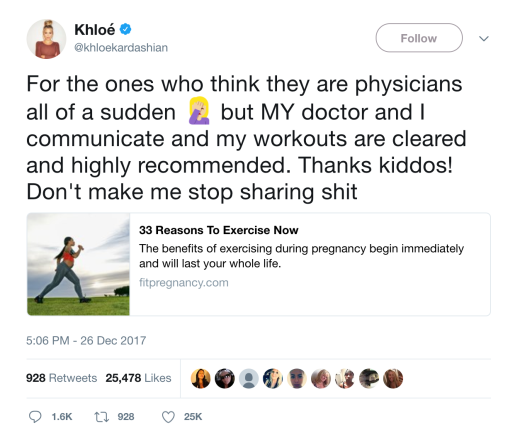 Khloe Hits Back