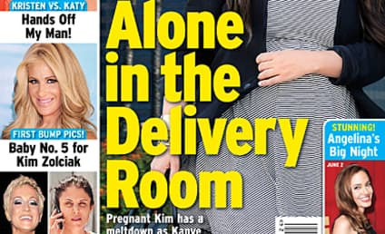 Kim Kardashian to Deliver Baby All Alone?!?