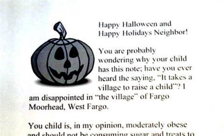 Halloween Letter To Overweight Children