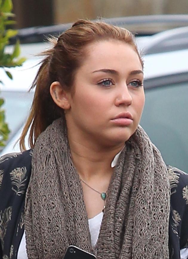 Miley Looks Lost