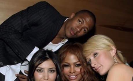 Nick Cannon, Kim Kardashian Throwback