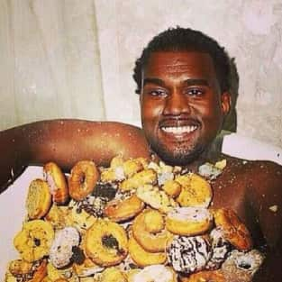 Kanye West With Doughnuts