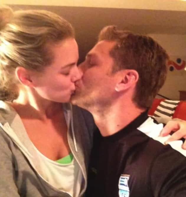 Juan Pablo and Nikki Ferrell Kiss