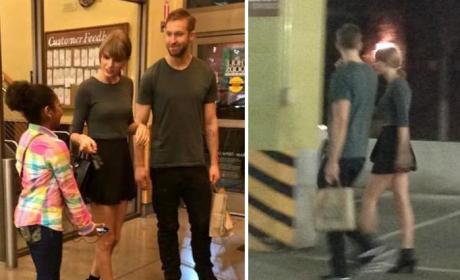 Taylor Swift and Calvin Harris Pics