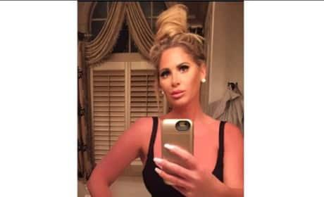 Kim Zolciak selfie black tank