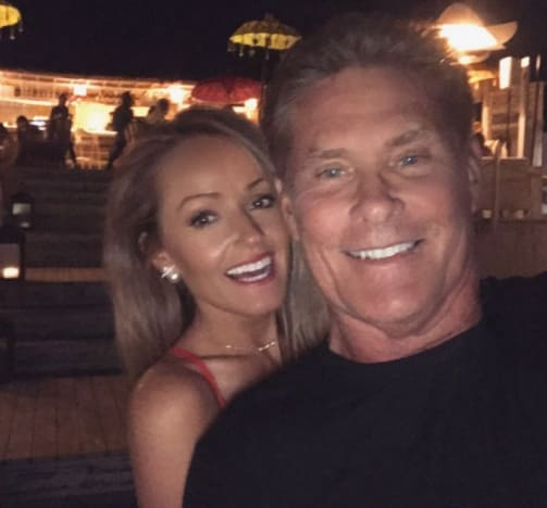 David Hasselhoff and Hayley Roberts Together