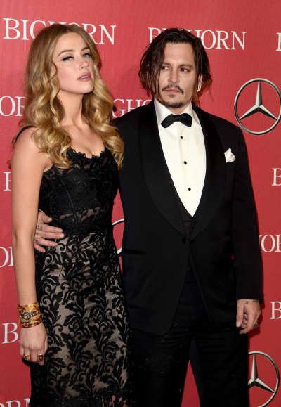 Amber Heard and Johnny Depp in Palm Springs