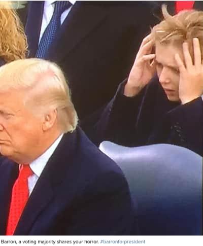 Barron Trump: Horrified!