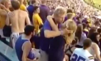 LSU Students Make Out at Football Game, Tumble Into Bleachers