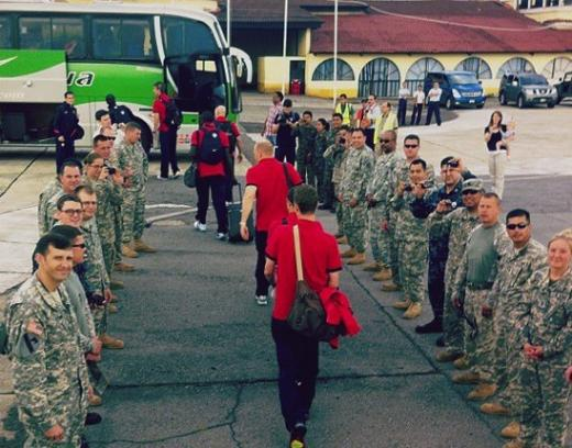 US Soccer Team Snubs Troops