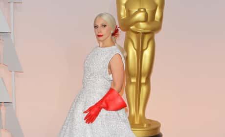Lady Gaga at the 2015 Oscars