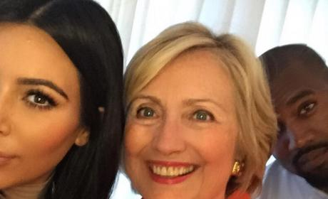 Kim Kardashian and Hillary Clinton Selfie