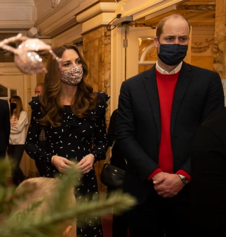 Kate Middleton and Prince William in Masks