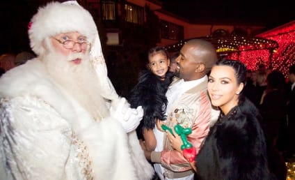 North West Meets Santa Claus, Makes Kanye Smile