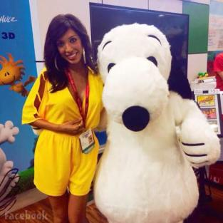 Farrah Abraham With Snoopy