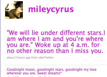 Miley Tweet