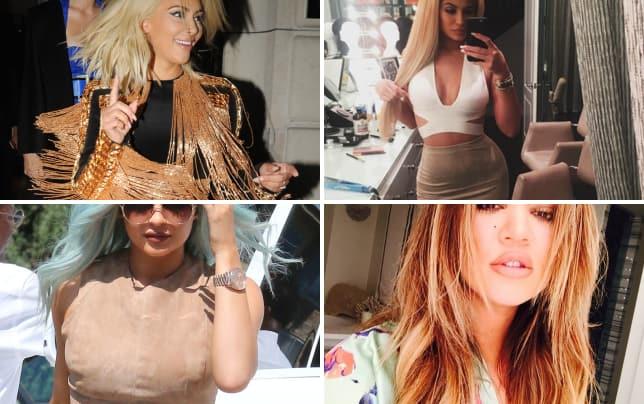 Kim kardashian with platinum hair