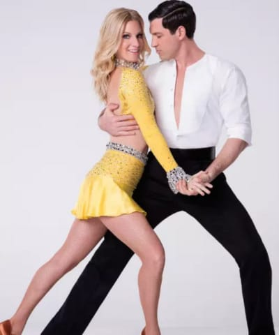 Heather Morris and Maksim Chmerkovskiy Pic