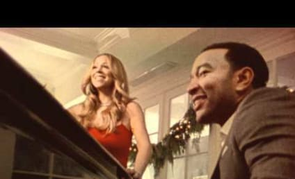"Awww Alert: Twins Join Mariah Carey and John Legend in Video For ""When Christmas Comes"""