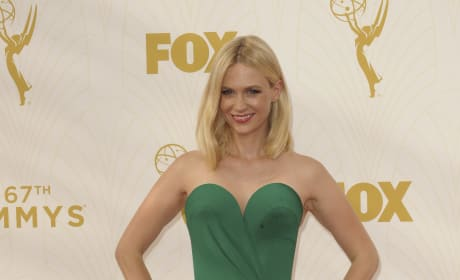 January Jones at the 2015 Emmys