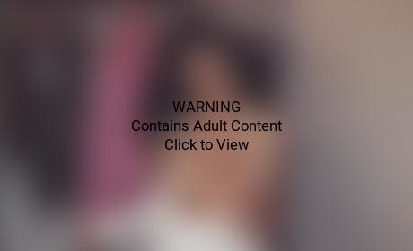 Kim Kardashian with taped breasts
