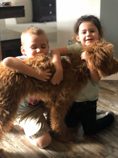 Kaiser and Ensley with New Dog