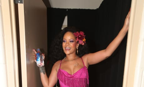 Rihanna Posing at Grammys