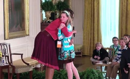 Girl Gives Michelle Obama Father's Resume, Gets a Hug in Return