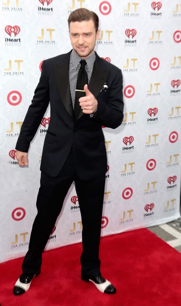 Justin Timberlake Red Carpet Pose
