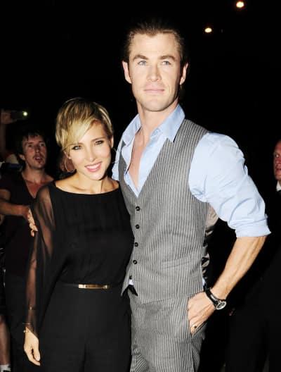 Elsa Pataky with Chris Hemsworth