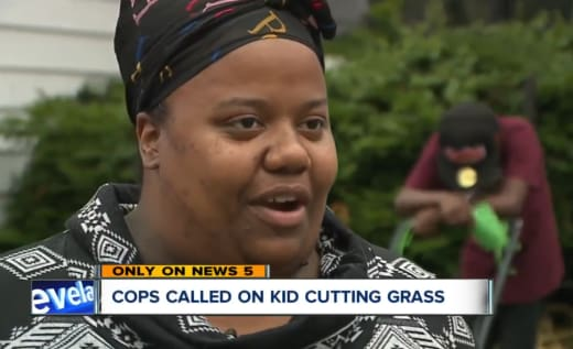 Neighbors Call 911 Over 12-Year-Old Mowing Grass 03