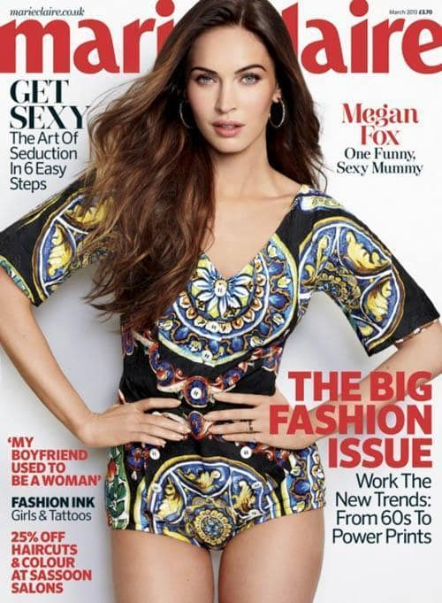 Megan Fox Marie Claire Cover