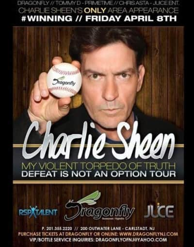 Charlie Sheen Party Poster